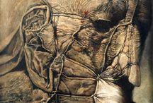 Beksiński / myśl wieczoru... człowiek umiera, ale jego sztuka nie.... Zwłaszcza zrodzona w tak pięknie spaczonym umyśle