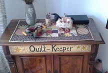 My primitive creations, pincushions and more