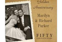 Wedding anniversary invites