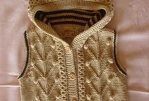 Knitted baby vests