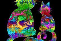 kočky papír škola