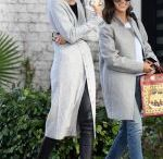 CARA SANTANA and DEVON WINDSOR Out for Coffee in Los Angeles