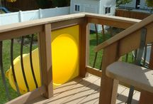 Slide off of back deck
