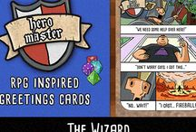 Hero Master- Fantasy RPG humour greetings cards