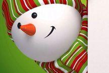 Muñeco de nieve de navidad