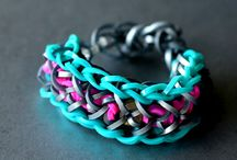 rainbow loom / colourful bracelets and other creations!