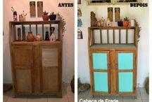 DIY by Cabeça de Frade - Mobiliário y otras cositas mas / Aqui você encontra os móveis e objetos desenvolvidos ou reformados pela Oficina de Arte Cabeça de Frade: https://cabecadefrade.wordpress.com