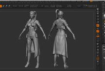 zMorph - Criação de Personagem 3D / Imagens produzidas no curso zMorph.