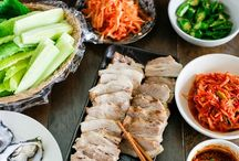 korean and japanese food