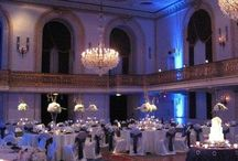 Pittsburgh Wedding Decor / A collection of Pittsburgh Wedding decor which includes lighting, flowers, chair and table linens!