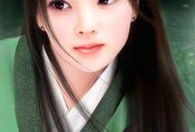 chinese art girl