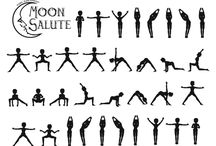 "Vinyasa Moon Salutation. / The Moon Salutation, known in Sanskrit as ""Chandra Namaskara"" could be a series of poses performed during a specific sequence to form a cooling flow of movement, every create during a Moon Salutation is coordinated together with your breathing: Inhale to increase, and exhale to bend"