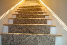 Floral Stair Runners / https://carpetworkroom.com Address: 39 Highland Circle, Needham MA 02494 Phone: (781) 844-4912 Email: info@thecarpetworkroom.com / by The Carpet Workroom