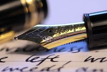 The beauty of the written word / Pens and paints