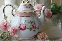 "Tea Time / ""Come let us have tea and continue to talk about happy things.""  --Chaim Potok / by Linda Davis"