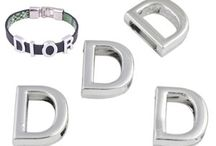 Alphabet beads / Make jewelry with alphabet beads / letter beads.