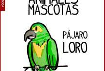 Vocabulario animales en español / El nombre de los animales en español, aprender vocabulario español. Vocabulario español inicial. Materiales educativos español ELE de los animales