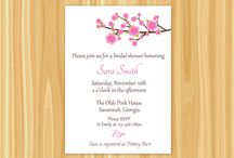 Bridal Shower Invitations / by The Paper Giraffe Shop