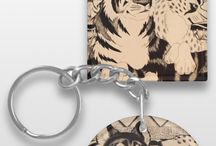 ¤Keychains / Some keychains from my Zazzle store,  www.zazzle.com/millakahlosdesigns