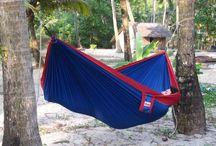 Parachute silk Camping/Travel Hammocks / Collection of our high grade parachute silk travel/camping hammocks.