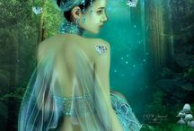 Faeries / magical beings in the plants, trees and water