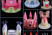 tortas en forma  de castillo