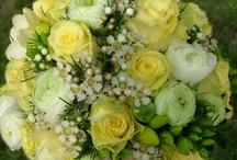 esküvői dekoráció sárga