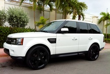 White cars with black rims