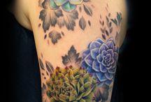 tetoválás pozsgás képekkel, succulent tattoo design