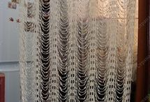 crochet curtains, drapes