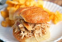 Beer braised onion soup chicken sliders