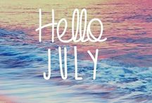 Hot July brings cooling showers, Apricots and gillyflowers. / July