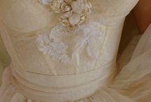 bustier wedding gown