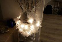 glazen pot gevuld voor kerst