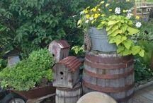 alte Deco im Garten