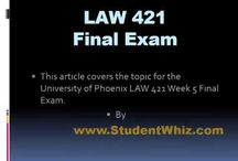 LAW 421 FInal Exam / The LAW 421 Final Exam deals with basics of law and the methods in which it could play a role in the life of a common person. We have worked towards making t...