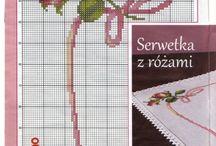вышивка-розы