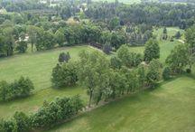 Il percorso dall'alto / Il percorso e le buche del Golf Club Lecco fotografate a volo d'uccello.