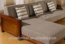 wooden sofa idea