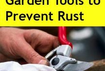 Gardening - cleaning tools