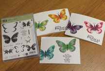 """Cards - """"Watercolour Wings"""" - Stampin Up"""