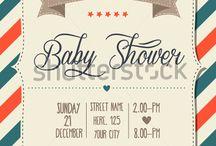 Retro Baby Shower card
