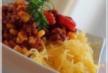 Chili rapide et courge spaghetti