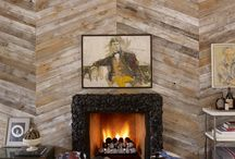 Wooden feature walls