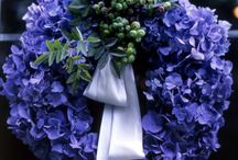 Wreaths~Garlands~Buntings~hanging arrangements / my idea of a refreshing welcome! / by Susan Brendle