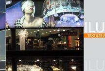 Textiles retroiluminados / letreros luminosos, imágenes retroiluminadas, cuadros textiles, marcos textiles, iluminación led
