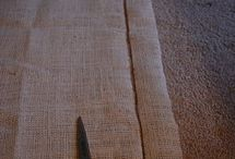 Burlap / Curtains, pillows, table cloth/runners, etc / by Mock Griffin
