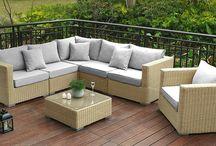 Garden Luxury Set Corner Furniture Outdoor Coffee Table Chairs Modern Stylish