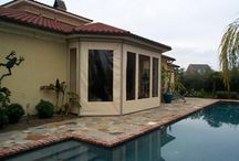 Exterior Shades / Exterior shades can be mounted on any window or patio around your home or business to stop up to 98% of the solar heat rays and provide up to 100% shade…with just the touch of a button or fully automated with a sun sensor!