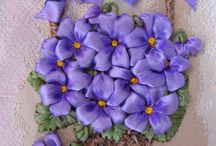 violets in basket
